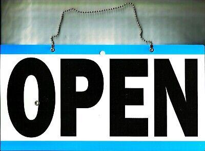Open Closed Hanging Sign And Adjustable Clock Will Return Door Or Window Store