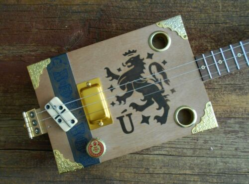 3 STRING ELECTRIC CIGAR BOX GUITAR / THIN IS IN