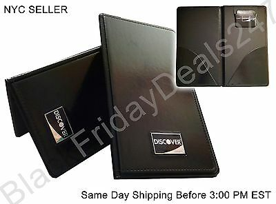 Discover Guest Check Folder Credit Card Check Holder Presenter Book Bill Receipt