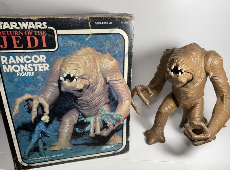 Vintage 1983 KENNER STAR WARS RETURN OF THE JEDI RANCOR MONSTER FIGURE & BOX