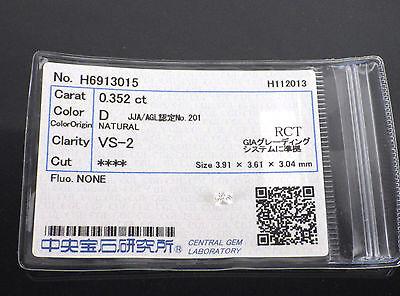 0.352 Carat VS2 D Color Square Cut Loose Natural Diamond +Grading