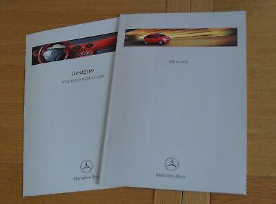 Mercedes A Class Brochures 1998 A140 A160 A170 CDI Avantgarde Classic Designo d'occasion  Expédié en Belgium