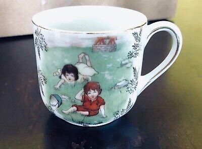 1910 Era child's ~ Porcelain, Victorian, Jack and Jill,  Tea Cup