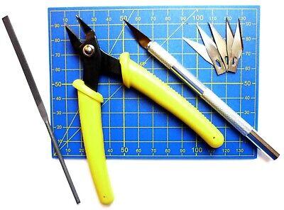Werkzeugset für Plastikmodellbau Plastik Werkzeug Modelbauset Schneidematte MS09