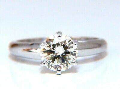 GIA Certified 1.01ct round cut diamond solitaire ring platinum classic N/Vs