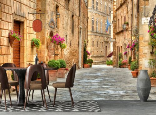 Street in Italy Photo Wallpaper 3D Wall Mural DECOR Giant Paper Poster Picture