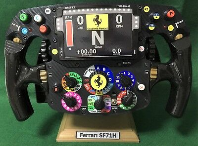 Used, Vettel Raikkonen FULL SIZE replica SF 71H Ferrari steering wheel_F1. Not Amalgam for sale  Shipping to Ireland