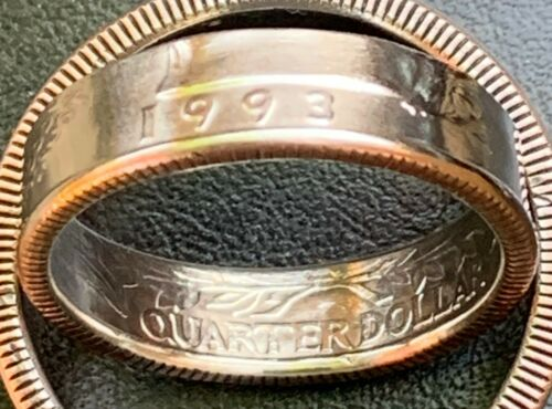 1965-1998 US Qtr Coin Ring, Size 5-13(1/4  & 1/2 sizes), You Pick Year. Free S&H