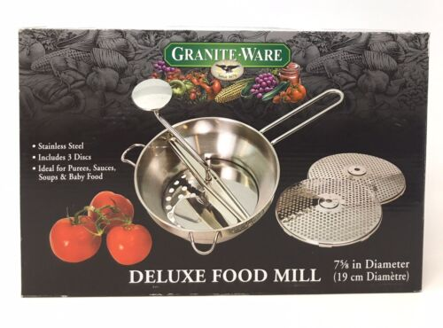 Granite Ware Stainless Steel Deluxe Food Mill, 2-Quart
