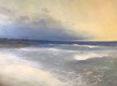 Ocean Breeze, Museum quality, Extra Large Handmade Artwork, Oil on Linen