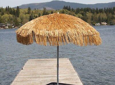 Whiskey Brown Palapa Tiki Hula Hawaiian 6 ft Patio or Beach Umbrella Tropical ](Hawaiian Patio)