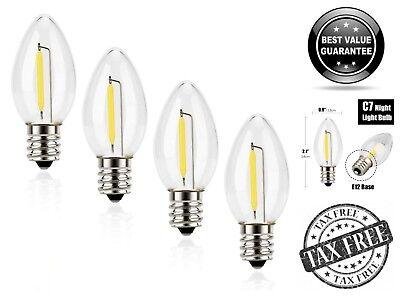 4 Pack Emotionlite C7 Candelabra LED Night Light Bulbs 2700K E12 Chandelier Base ()