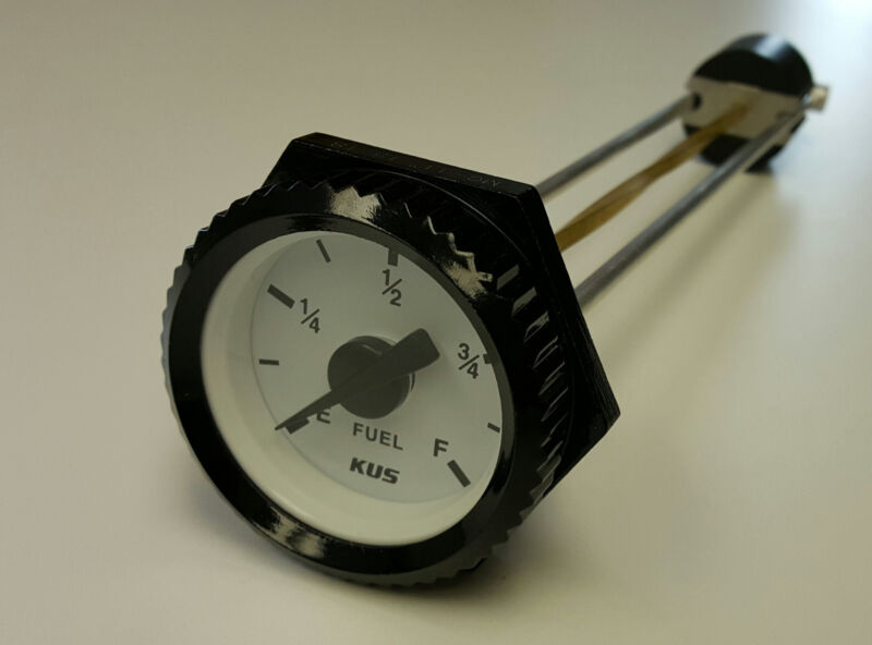"""Flat Dial Vertical Spiral Fuel Level Gauge x 24"""" replaces Rochester 8680 Series"""