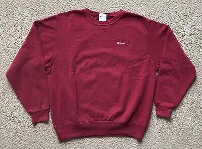 Vintage 90's Champion Maroon Fully Embroidered Crewneck/Sweatshirt Size XL