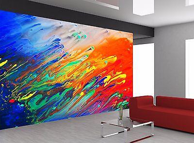 Abstract Acrylic Painting Colors Art Wall Mural Photo Wallpa