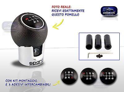 Pomello Cambio Universale leva 5 e 6 marce auto kit tuning innesto siringa per