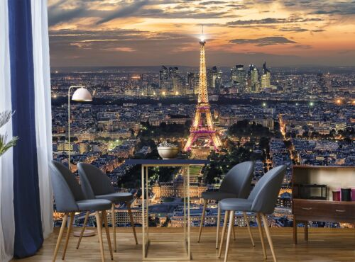 Paris Photo Wallpaper Wall Mural Eiffel Tower DECOR Giant Paper Poster Picture