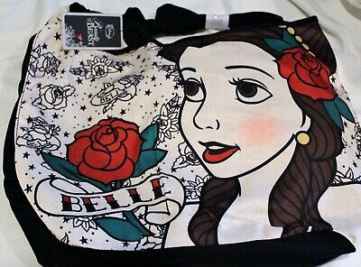 Beauty And The Beast Rose Tattoo (Nwt Beauty And The Beast Belle Crossbody Disney Rose Tattoo Hobo Tote Bag)