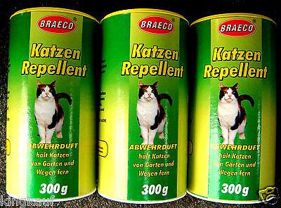 Katzenabwehr Tiervertreiber 3x 300g Katzenvertreiber Katzenschreck Katzenschutz