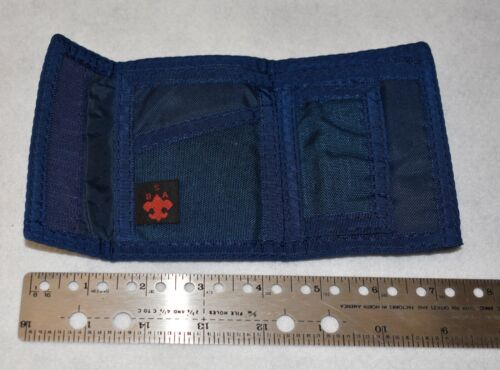 BOY SCOUTS OF AMERICA Official Wallet Blue Velcro Many Compartments