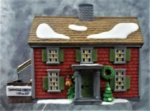 "1990 DEPT 56 HERITAGE NEW ENGLAND VILLAGE ""SHINGLE CREEK HOUSE"" LIGHTS W/BOX"