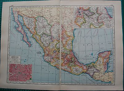 1920 MAP WORLD WAR 1- MEXICO