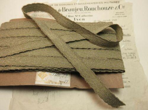 Antique/Vintage French Metallic Gold/Green Ribbon Trim Tape