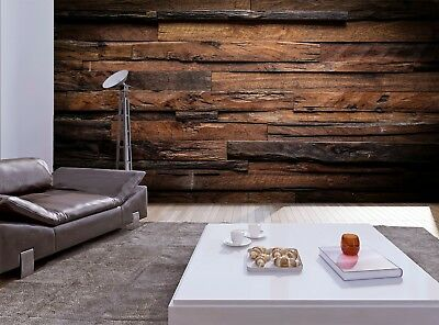 Dark Wood   Wall Mural Photo Wallpaper GIANT WALL DECOR Free Paste