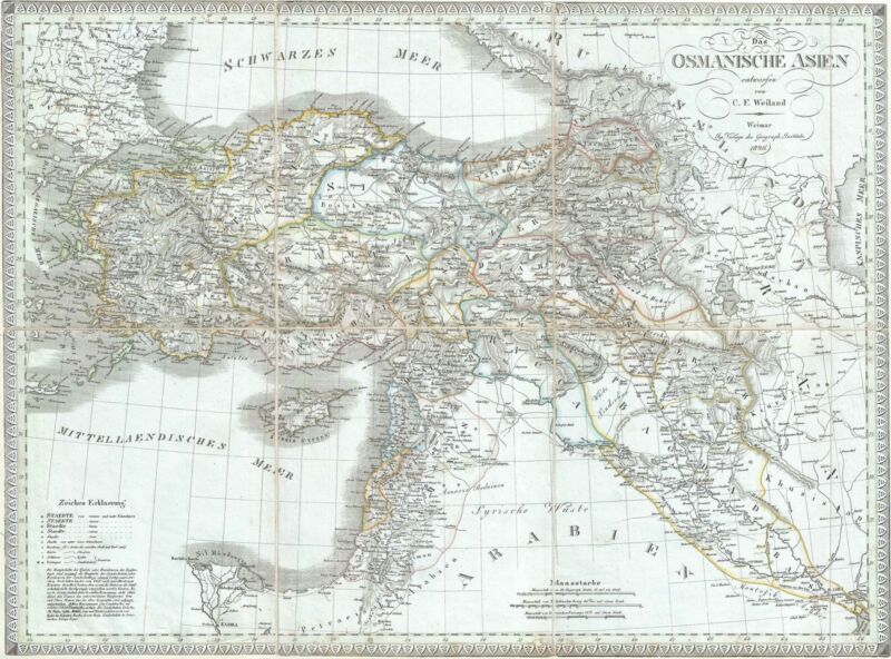 1826 Weiland Map of Turkey and Asia Minor