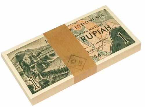 INDONESIA 1 RUPIAH 1961 P 78 UNC BUNDLE OF (100 NOTES) 100 PCS