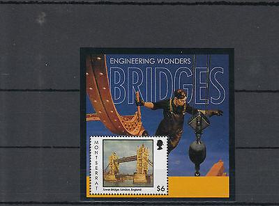 MONTSERRAT 2012 MNH ENGINEERING WONDERS BRIDGES 1V S/S TOWER BRIDGE LONDON