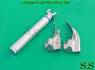 Laryngoscope Macintosh Set 1 Handle Aa 2 Mac Blades