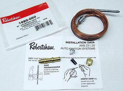 Robertshaw Thermocouple 60 1980-060 Snap Fit Universal 51-1459