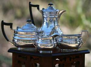 4 Piece Sterling Silver Tea / Coffee Service Sheffield 1938