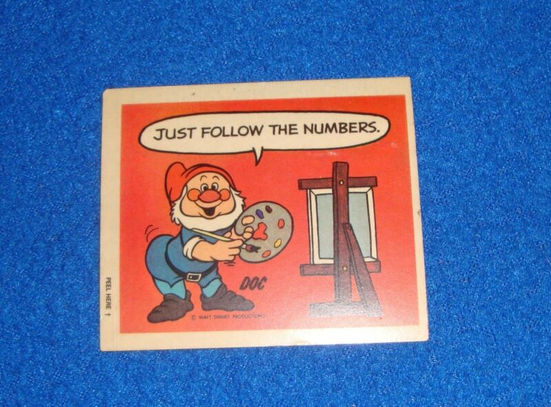 Vintage Disney Doc Sticker Unused