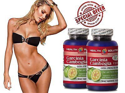60 Caps Supplement Pills - Dietary Supplements - GARCINIA CAMBOGIA 60%HCA - Fat Burner Pills 2 Bot 120 Cap