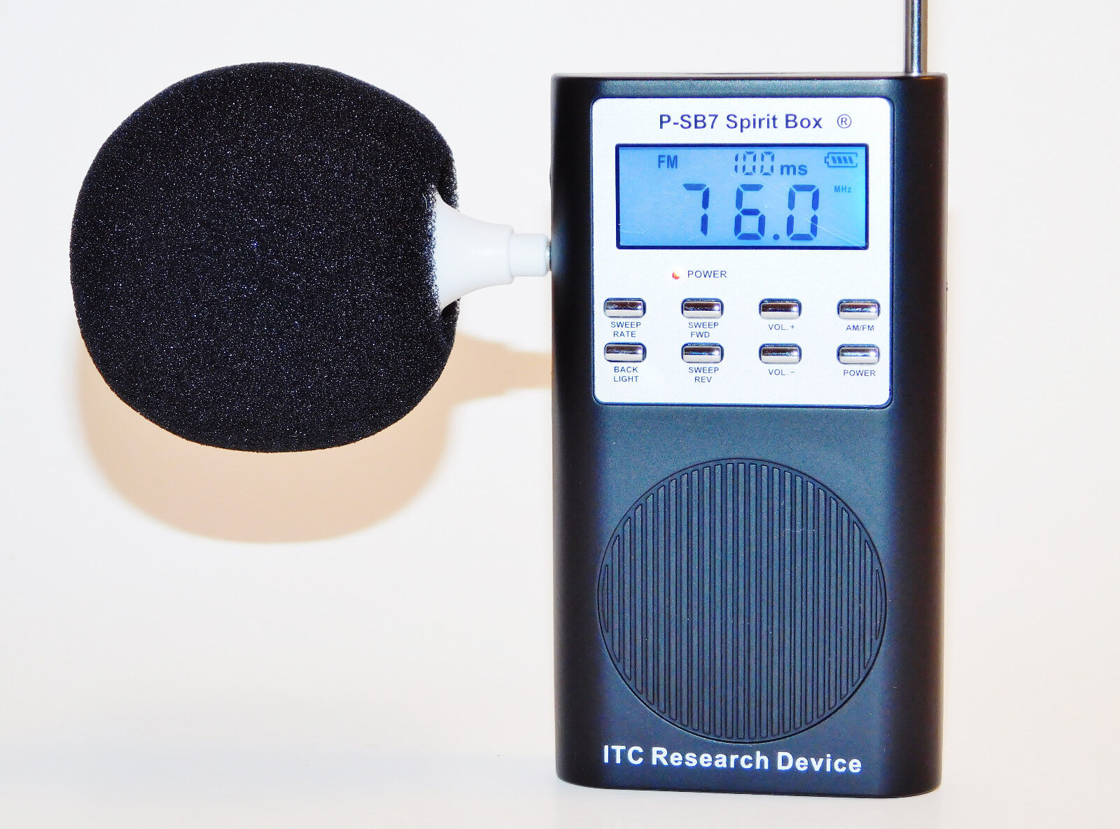 P-SB-7 Spirit Box With Speaker & AM/FM Sweep Rate EVP Ghost Hunting CD