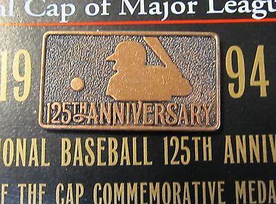 1994 NEW ERA BASEBALL CAP 125th Anniversary HAT BADGE.  MINT on card