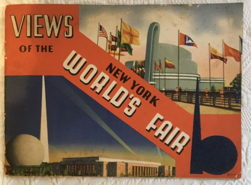 """1939 """"Views of the New York World's Fair"""" Souvenir Booklet - THE LEAST EXPENSIVE"""