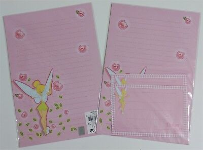 Disney Fairy Tinkerbell Stationery Envelop Stationary Lined Letter Set Rose PINK