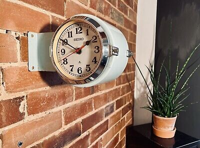 Vintage Seiko Round Double Sided Ship's Wall Clock
