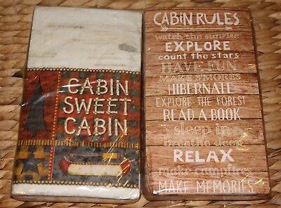 Paper Guest Towels Cabin Rules Sweet Set of 20 Buffet Decoupage Napkins U Pick