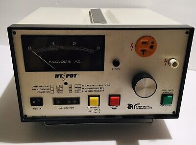 Vintage Associated Research Ac Hypot And Ground Continuity Test Set 4040a - Euc