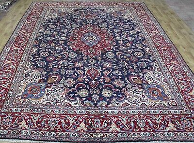 Extra Large 9x12 And Larger Persian Mashad Hand Knotted Oriental
