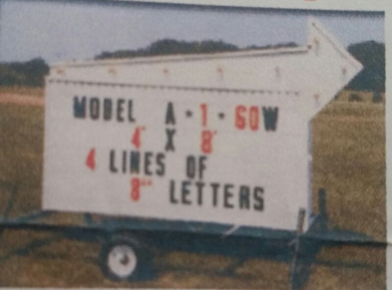 Portable sign with trailer
