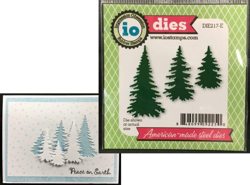 Evergreen Trees Die Cut Christmas Impression Obsession Metal Dies DIE217E Pines