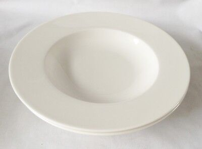 Villeroy and Boch Twist White Rimmed Bowls x 2 NEW UNUSED