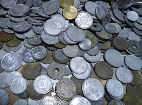 Japan Old Coins LOT 50pcs. 1938-1949 (Showa13-24)