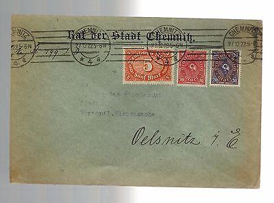1922 Chemnitz Germany Deutsche Bank Cover