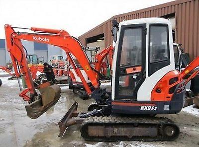 Kubota Excavator Mini Digger - Parts Manuals - Many Many Models